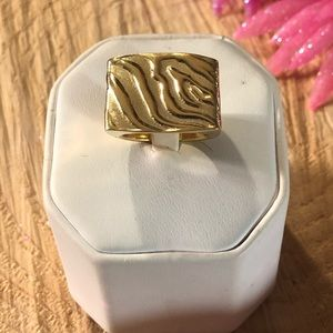 Fabulous Sterling Silver Gold Ionized Ring